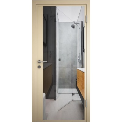 врата  за баня с огледало / Alkorcel