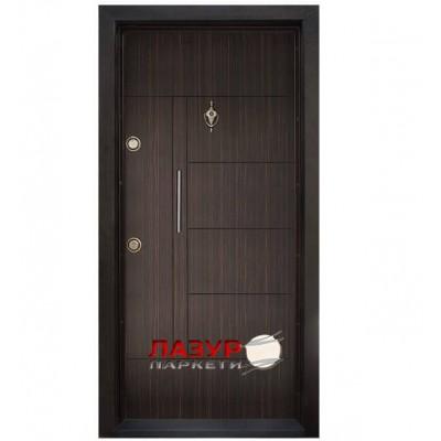Блиндирана входна врата Т587 Абанос