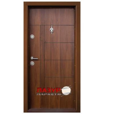 Блиндирана входна врата Т587 златен дъб