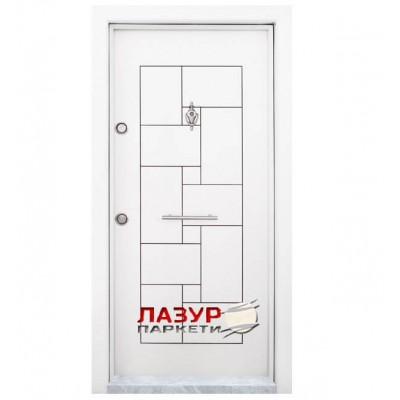 Блиндирана входна врата Т - 100 Бяла