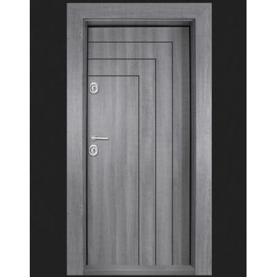 Блиндирана входна врата  T 1002 сив дъб